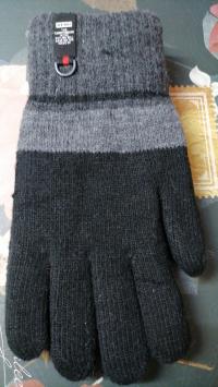 Перчатки зимние трикотажные с утепленные 1 пара