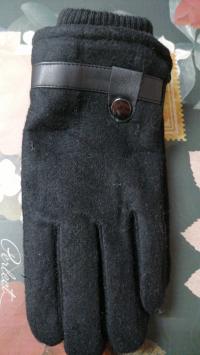 Перчатки зимние фетровые утепленные с резинкой 1пара