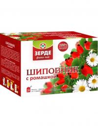 чай пакетированный (Ромашка,  шиповник)