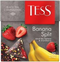 Чай черный Tess Banana split в пирамидках 1 пачка
