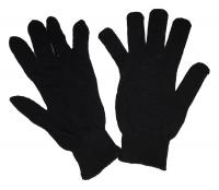 Перчатки рабочие черные 1 пара.